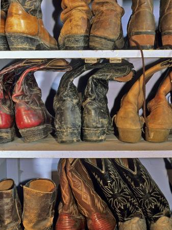 chuck-haney-cowboy-boots-at-ranch-marion-montana-usa