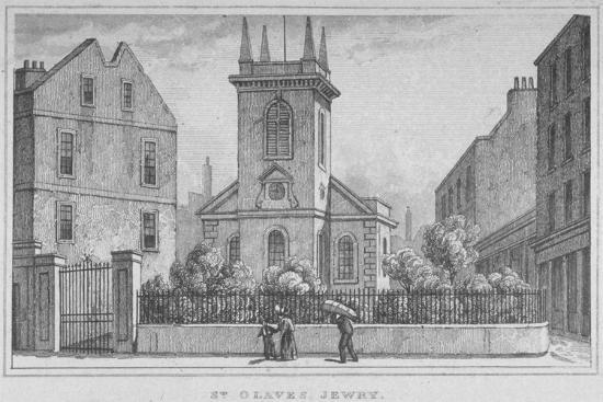 church-of-st-olave-jewry-from-ironmonger-lane-city-of-london-1830