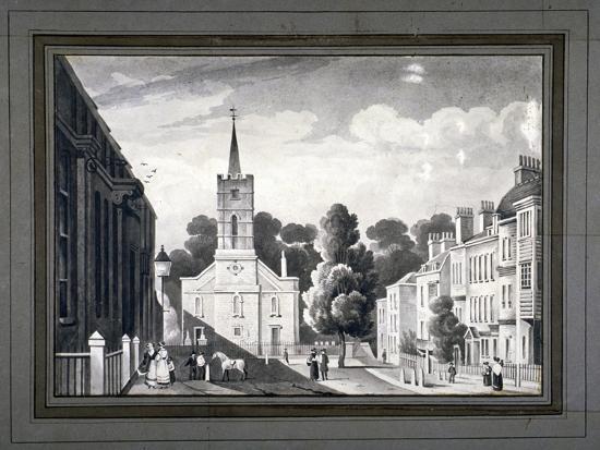 church-row-hampstead-london-c1830