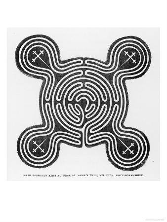 circular-maze-with-protuberances-formerly-existing-near-saint-anne-s-well-sneinton-nottinghamshire