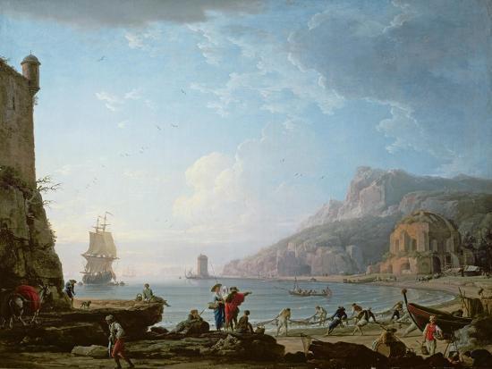 claude-joseph-vernet-morning-scene-in-a-bay-1752