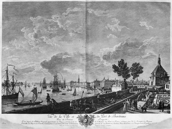 View of the town and port of bordeaux seen from chateau trompette giclee print by claude joseph - Joseph vernet le port de bordeaux ...