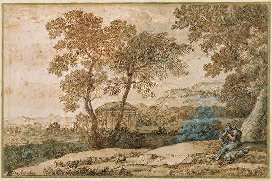 claude-lorraine-landscape-with-a-shepherd-and-his-dog