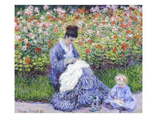 claude-monet-camille-monet-and-a-child-in-the-artist-s-garden-in-argenteuil