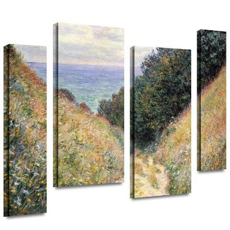 claude-monet-footpath-4-piece-gallery-wrapped-canvas