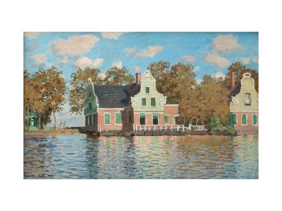 claude-monet-houses-at-the-bank-of-the-river-zaan
