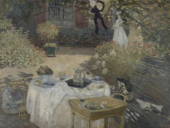 claude-monet-le-dejeuner-panneau-decoratif-jardin-de-monet-a-argenteuil-a-gauche-son-fils-jean