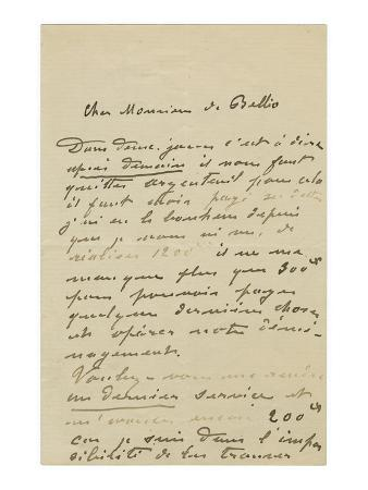 claude-monet-letter-ink-on-paper
