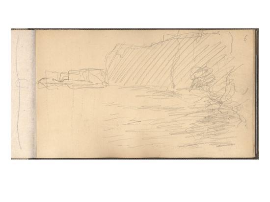 claude-monet-the-cliffs-of-varengeville-pencil-on-paper
