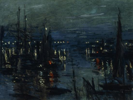 claude-monet-the-port-of-le-havre-night-effect
