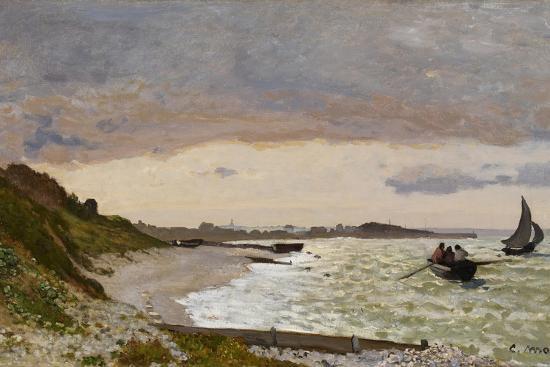 claude-monet-the-seashore-at-sainte-adresse-1864