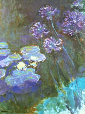 claude-monet-water-lilies-and-agapanthus