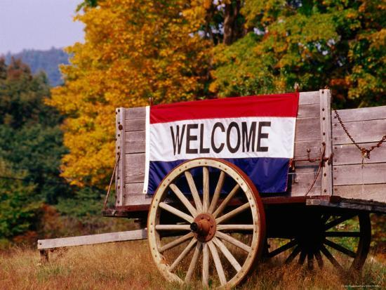 claver-carroll-welcome-sign-on-wagon-in-rural-new-england