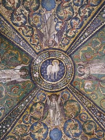 clipeus-with-mystic-lamb-being-supported-by-four-angels-and-nature-motifs