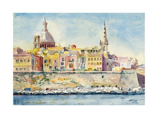 clivewa-a-watercolor-painting-of-valletta-malta