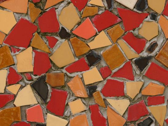 close-up-of-abstract-red-mosaic-background