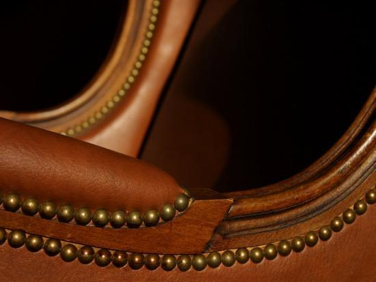 close-up-of-curved-brown-leather-and-furniture-rivets