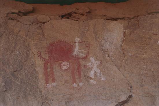 close-up-of-rock-paintings-akakus-massive-libya-depicting-a-camel