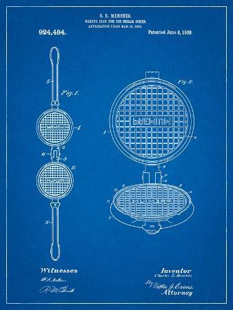 cole-borders-waffle-iron-for-ice-cream-cones-1909-patent