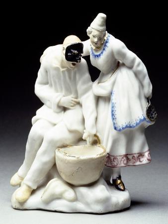 columbine-and-pulcinalla-eating-macaroni-1745