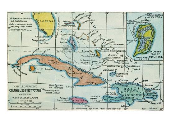 columbus-west-indies-map