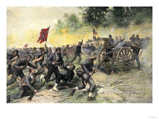 confederate-charge-up-little-round-top-battle-of-gettysburg-c-1863