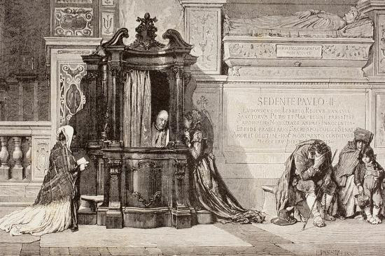 confession-in-an-italian-catholic-church-19th-century-illustration-from-el-mundo-ilustrado