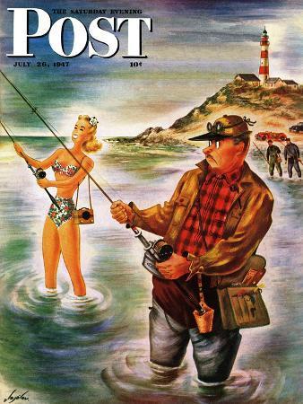 constantin-alajalov-bikini-surf-fisher-saturday-evening-post-cover-july-26-1947
