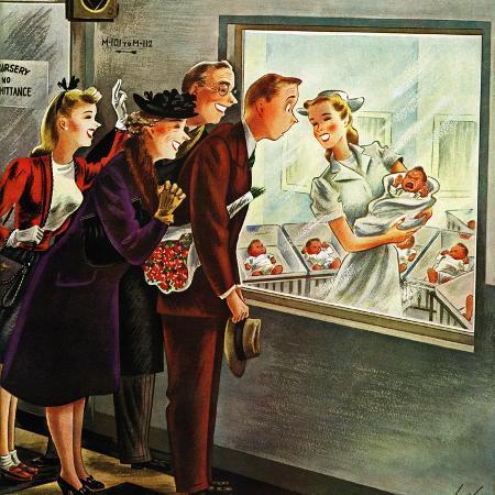 constantin-alajalov-maternity-ward-november-2-1946