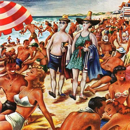 constantin-alajalov-palefaces-at-the-beach-july-27-1946