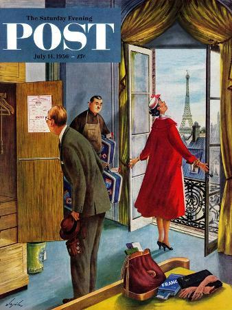 constantin-alajalov-paris-hotel-saturday-evening-post-cover-july-14-1956