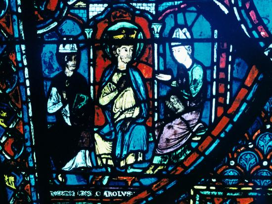 constantine-s-letter-presented-to-charlemagne-stained-glass-chartres-cathedral-france-c1225