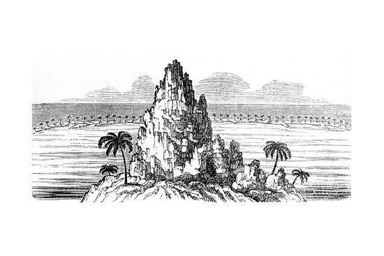 coral-island-and-circling-coral-reef-creating-a-lagoon