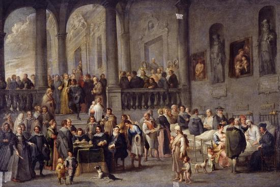 cornelis-de-wael-to-visit-the-sick-cycle-from-the-seven-works-of-mercy-after-1625