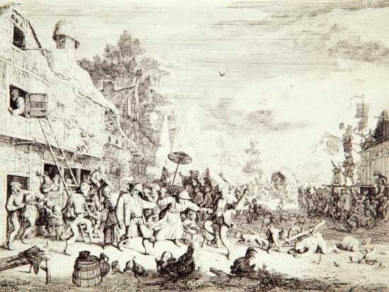 cornelis-dusart-the-village-fair-1685
