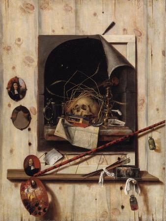 cornelis-norbertus-gijsbrechts-trompe-l-oeil-with-studio-wall-and-vanitas-still-life-1668