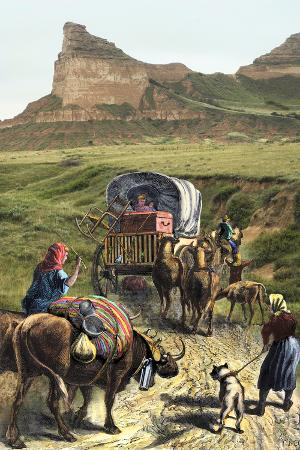 covered-wagon-of-a-homesteader-family-heading-west-with-their-belongings