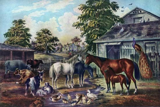 currier-ives-american-farm-yard-in-the-morning-1857
