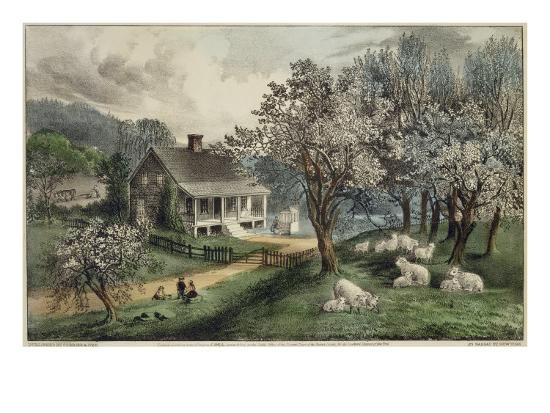 currier-ives-american-homestead-spring