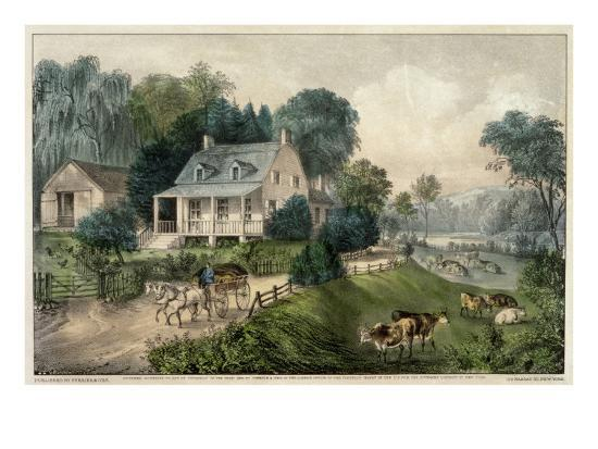 currier-ives-american-homestead-summer
