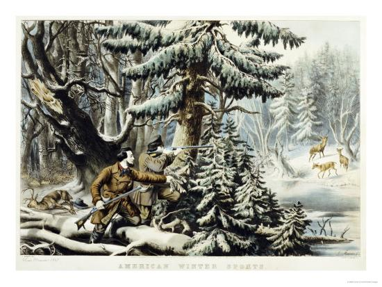 currier-ives-american-winter-sports-deer-shooting-on-the-shattagee-1855