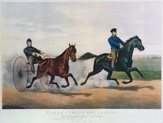 currier-ives-flora-temple-and-lancet-racing-on-the-centreville-course-1856