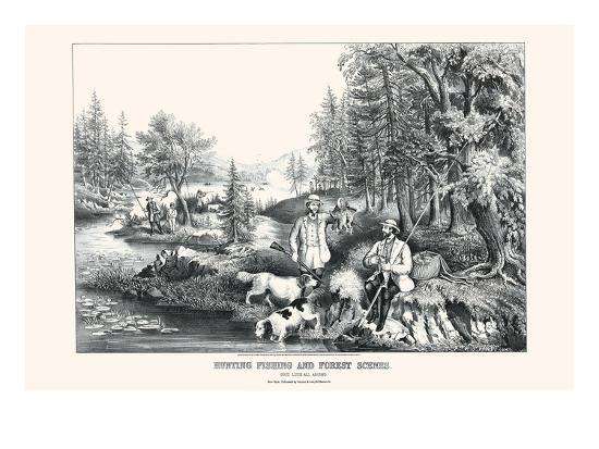 currier-ives-hunting-fishing-and-forest-scenes-good-luck-all-around