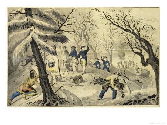 currier-ives-landing-of-the-pilgrims-at-plymouth-11th-dec-1620