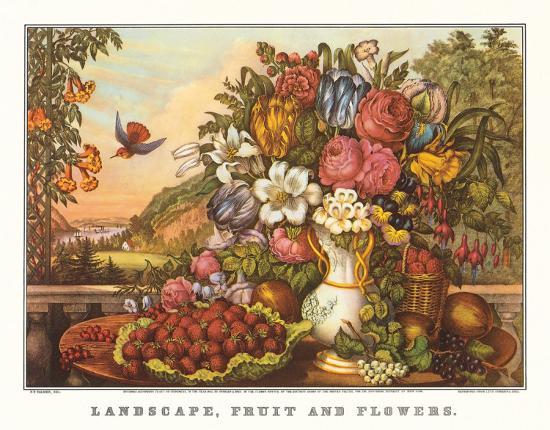 currier-ives-landscape-fruit-and-flowers