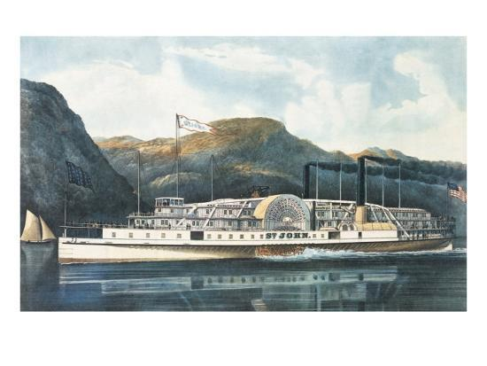 currier-ives-the-hudson-river-steamboat-st-john