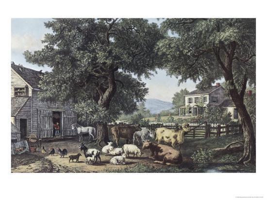 currier-ives-the-old-homestead