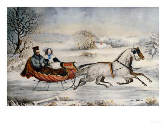 currier-ives-the-road-winter-1853