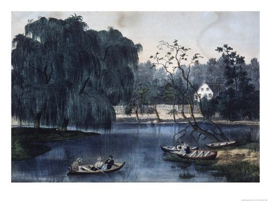 currier-ives-the-rural-lake