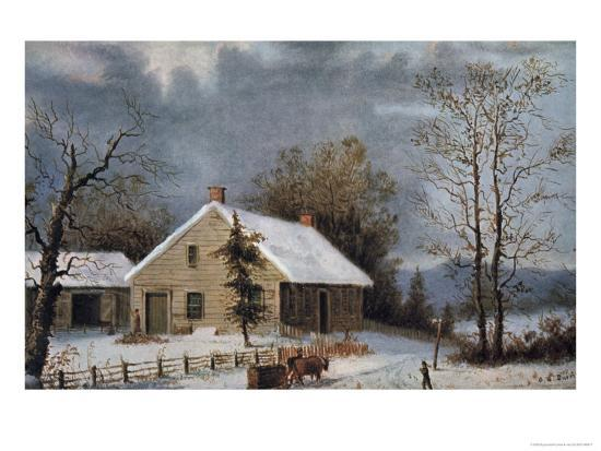 currier-ives-winter-wood